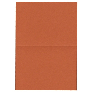 JAM Paper® Blank Foldover Cards, 4bar / A1 size, 3 1/2 x 4 7/8, Dark Orange, 100/pack (230913088)
