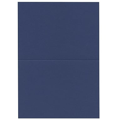 JAM Paper® Blank Foldover Cards, 4bar / A1 size, 3 1/2 x 4 7/8, Presidential Blue, 100/pack (230913097)