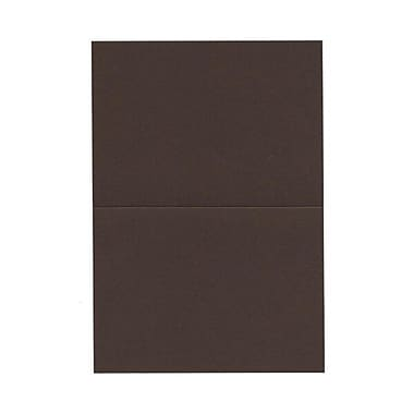 JAM Paper® Blank Foldover Cards, 4bar / A1 size, 3 1/2 x 4 7/8, Chocolate Brown, 100/pack (230913090)