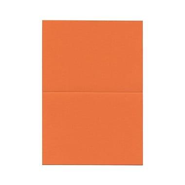 JAM Paper® Blank Foldover Cards, 4bar / A1 size, 3 1/2 x 4 7/8, Orange, 100/pack (230913100)