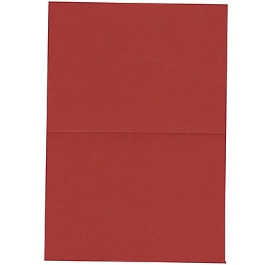 JAM Paper® Blank Foldover Cards, 4bar / A1 size, 3.5 x 4.88, Dark Red, 100/Pack (30921417)