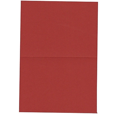JAM Paper® Blank Foldover Cards, 4bar / A1 size, 3 1/2 x 4 7/8, Dark Red, 100/pack (30921417)