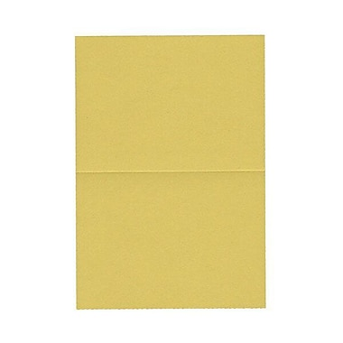 JAM Paper® Blank Foldover Cards, 4bar / A1 size, 3 1/2 x 4 7/8, Chartreuse Green, 100/pack (30921416)