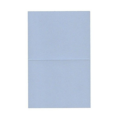 JAM Paper® Blank Foldover Cards, A2 size, 4.25 x 5.5, Stardream Metallic Blue Pearl, 50/pack (69321451)