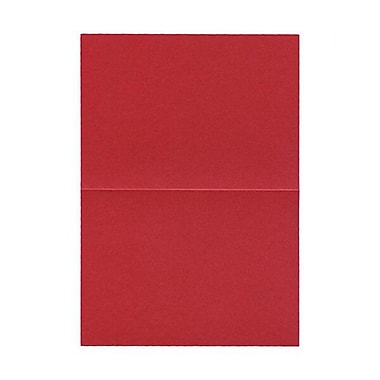 JAM Paper® Blank Foldover Cards, A7 size, 5 x 7, Malmero Perle Red, 100/pack (50GCMP923B)
