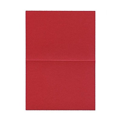 JAM Paper® Blank Foldover Cards, A2 size, 4.25 x 5.5, Stardream Metallic Jupiter Red, 50/pack (16936701)