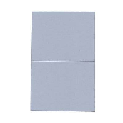 JAM Paper® Blank Foldover Cards, A2 size, 4.25 x 5.5, Curious Metallic Plasma Blue, 50/pack (69313369)