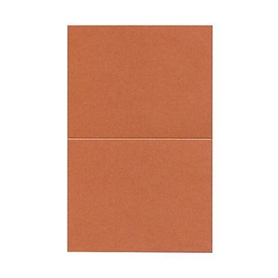 JAM Paper® Blank Foldover Cards, A2 size, 4.25 x 5.5, Stardream Metallic Jupiter Red, 50/pack (69313371)