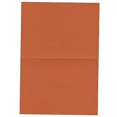 JAM Paper® Blank Foldover Cards, A2 size, 4.38 x 5 7/16, Dark Orange, 100/Pack (330913104)