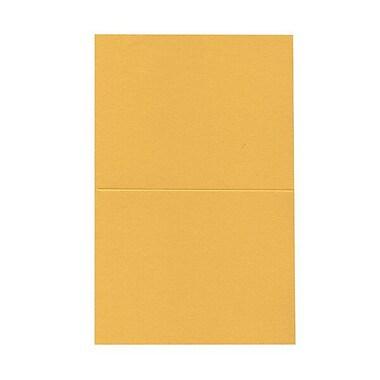 JAM PaperMD – Cartes vierges rabattables, jaune doré, 4,37 x 5,43 po, 100/paquet
