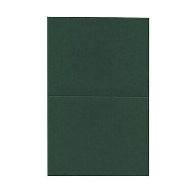 JAM PaperMD – Cartes vierges à pli horizontal, vert, 4,37 x 5,43 po, 100/paquet
