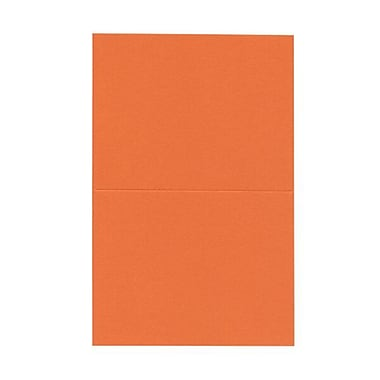 JAM PaperMD – Cartes vierges rabattables, orange, 4,37 x 5,43 po, 100/paquet