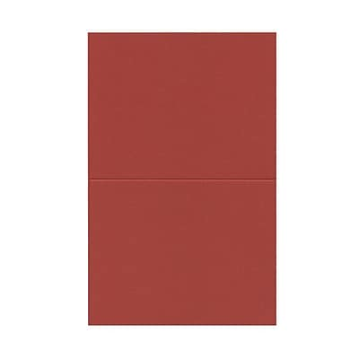 JAM Paper® Blank Foldover Cards, A2 size, 4 3/8 x 5 7/16, Red, 100/pack (330913115)