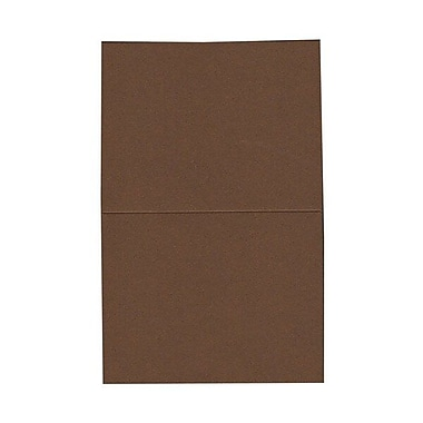 JAM Paper® Blank Foldover Cards, A2 size, 4.38 x 5 7/16, Chocolate Brown, 100/Pack (30921414)
