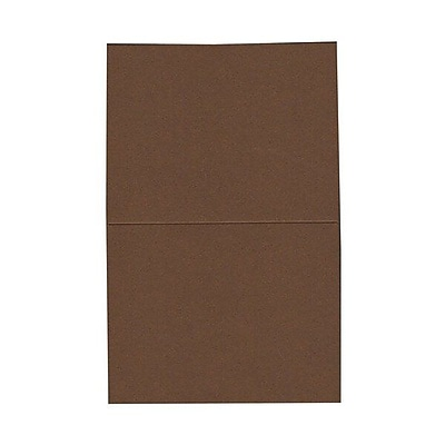 JAM Paper® Blank Foldover Cards, A2 size, 4 3/8 x 5 7/16, Chocolate Brown, 100/pack (30921414)