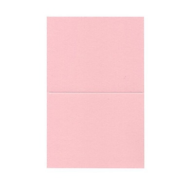 JAM Paper® Blank Foldover Cards, A2 size, 4.38 x 5 7/16, Baby Pink, 500/Pack (330913101B)