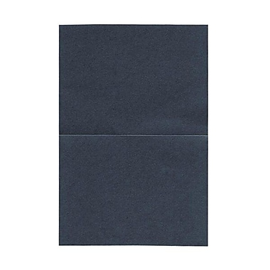 JAM Paper® Blank Foldover Cards, A6 size, 4 5/8 x 6 1/4, Stardream Metallic Anthracite Black, 25/pack (06935217B)