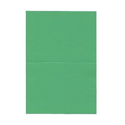 JAM Paper® Blank Foldover Cards, 4 x 5 7/16, Green, 100/pack (309934)