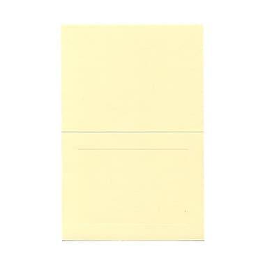 JAM PaperMD – Cartes rabattables avec bordure, ivoire, 5 x 6,62 po, 100/paquet