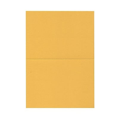 JAM Paper® Blank Foldover Cards, A7 size, 5 x 6 5/8, Gold Yellow, 25/pack (530913120C)