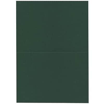 JAM Paper® Blank Foldover Cards, A7 size, 5 x 6 5/8, Dark Green, 100/pack (530913124)