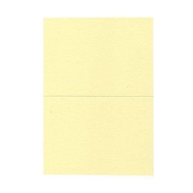 JAM Paper® Blank Foldover Cards, A7 size, 5 x 6.63, Light Yellow, 100/Pack (530913125)