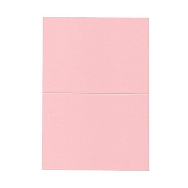 JAM PaperMD – Cartes vierges rabattables, rose pastel, 5 x 6,62 po, 100/paquet