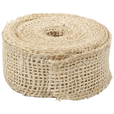 JAM Paper® Burlap Ribbon, 1.5 inch wide x 10 Yards, Ivory, Sold Individually (344226950)