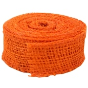 JAM Paper® Burlap Ribbon, 1.5 inch wide x 10 Yards, Orange, Sold Individually (344226955)