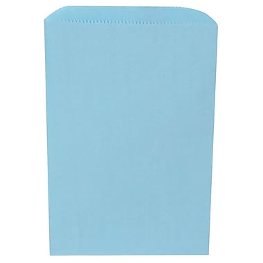 JAM Paper® Merchandise Bags, Small, 6.25 x 9.25, Baby Blue, 1000/carton (342126784)
