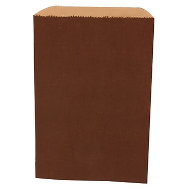 JAM Paper® Merchandise Bags, Small, 6.25 x 9.25, Chocolate Brown, 1000/carton (342126838)
