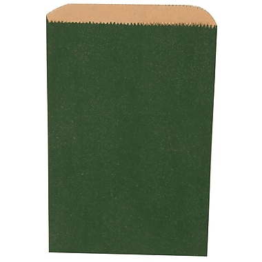 JAM Paper® Merchandise Bags, Small, 6.25 x 9.25, Green, 1000/carton (342126792)
