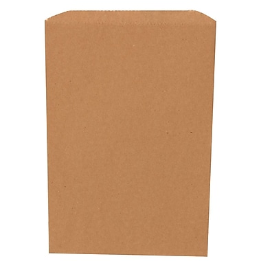 JAM Paper® Merchandise Bags, Small, 6.25 x 9.25, Brown Kraft Recycled, 1000/carton (342126846)