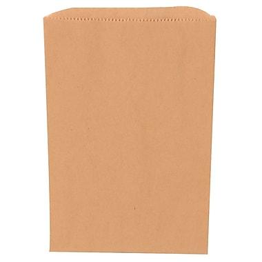 JAM Paper® Merchandise Bags, Small, 6.25 x 9.25, Brown Kraft Recycled, 1000/carton (342126842)