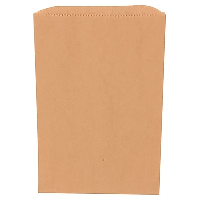 JAM Paper® Merchandise Bags, Small, 6.25 x 9.25, Brown Kraft Recycled, 1000/carton (342126842)