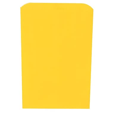 JAM Paper® Merchandise Bags, Small, 6.25 x 9.25, Yellow, 1000/carton (342126810)