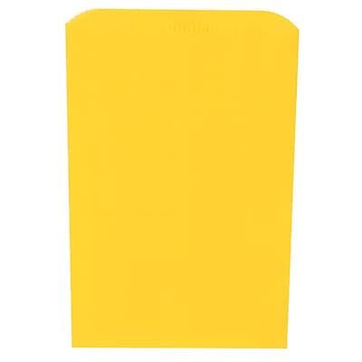 JAM Paper® Merchandise Bags, Small, 6.25 x 9.25, Yellow, 1000/carton (342126810)