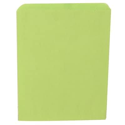JAM Paper® Merchandise Bags, Medium, 8.5 x 11, Lime Green, 1000/carton (342126807)