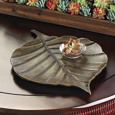 Malibu Creations Rustic Ranch Avery Leaf Decorative Tray