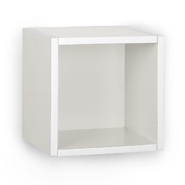 Way Basics Eco-Friendly Wall Cube Floating Shelf, White - Lifetime Warranty