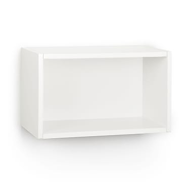 Way Basics Eco-Friendly Wall Rectangle Floating Shelf, White - Lifetime Warranty