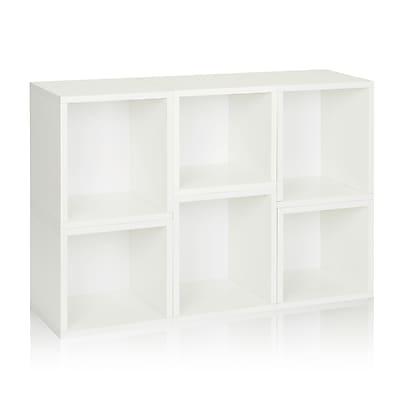 Way Basics Eco-Friendly 6 Stackable Arlington Storage Cubes, White - Lifetime Warranty