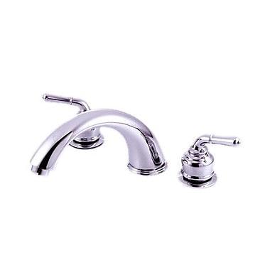 Kingston Brass Magellan Two Handle Roman Tub Faucet; Polished Chrome