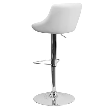 Flash Furniture – Tabouret de bar ajustable en vinyle, 19 1/2 x 19 1/2 po, brun