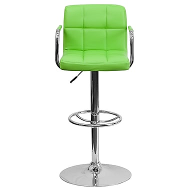 Flash Furniture – Tabouret de bar à hauteur ajustable de 20 x 18 po en vinyle, vert
