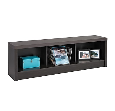 Prepac™ District Laminate Storage Bench, Washed Black