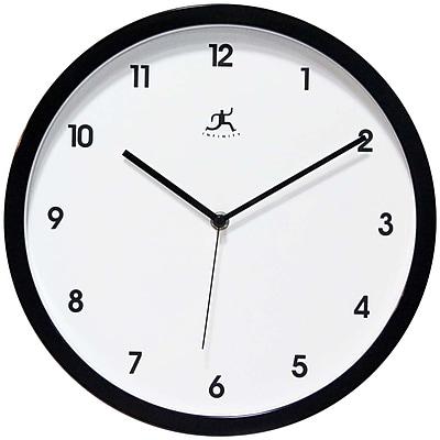 Infinity Instruments 14480BK-3023 Cirrus Resin Analog Wall Clock, Black