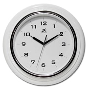 "Infinity Instruments 12 1/2"" Deluxe Analog Wall Clock, White"