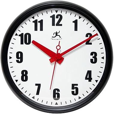 Infinity Instruments 14724BK-3733 Impact Plastic Analog Wall Clock, Black