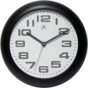 Infinity Instruments 14761BK-3782 Clear Plastic Analog Wall Clock, Black